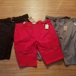 Men's Black, Red, Gray Shorts, NWT Size 46…